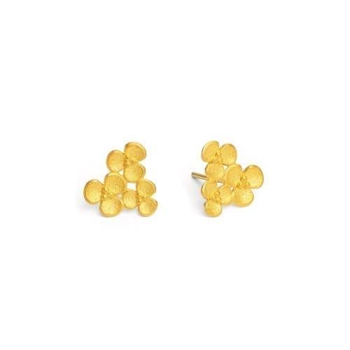 Ohrstecker Blüte Gold