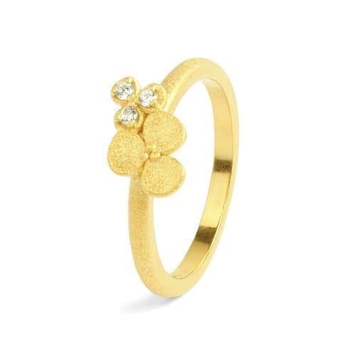 Blumenring Gold