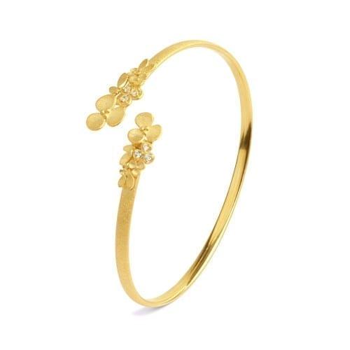 Armreif Blüten Gold