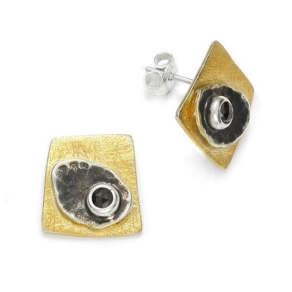 Ohrstecker schwarzer Diamant